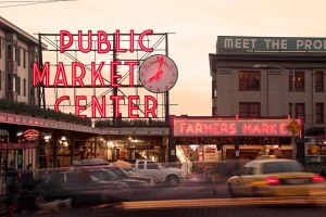 The famous view of the entrance to the market! (Picture courtesy of Pike's Place)