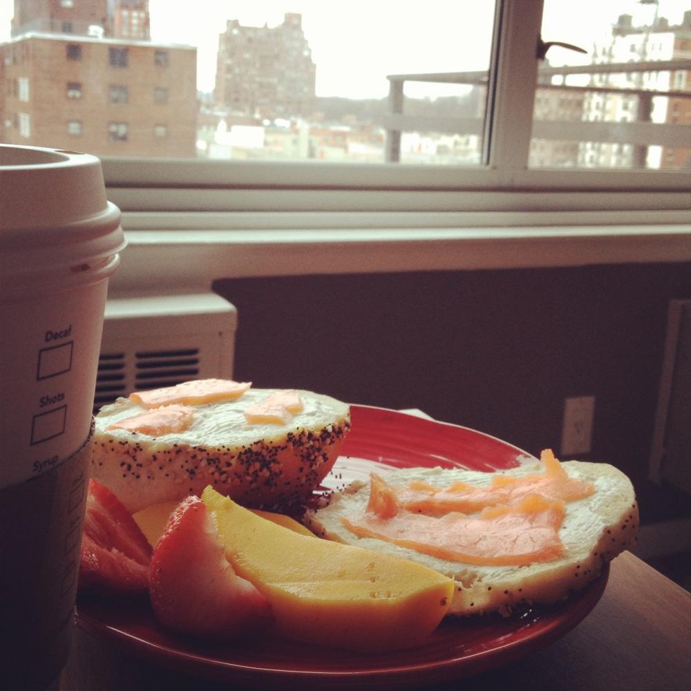A perfect NY breakfast.